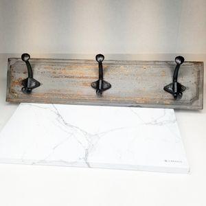 Gray Distressed Hanging Rack